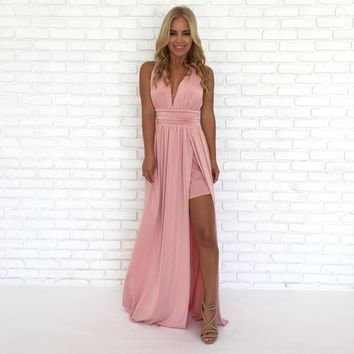 Always Your Girl Maxi Dress In Pink