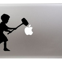 Banksy Kid with Hammer sticker MacBook/Air/Retina laptops
