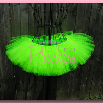 Edwena - Neon Lime Green Tutu - Rave Tutu - Club - Dance - Available in Infant, Toddler, Girls, Teenager and Adult Sizes