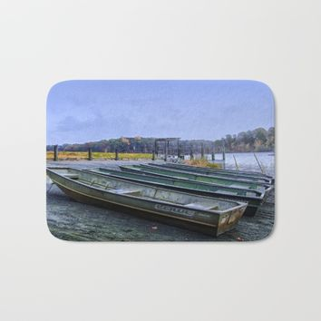 Season's End Bath Mat by Scott Hervieux