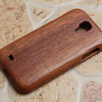 Wooden Samsung Galaxy S4 SIV GT-I9500 i9500 Case Cover, Handmade from 100% premium natural wood, Samsung Case Cover, phone case cover