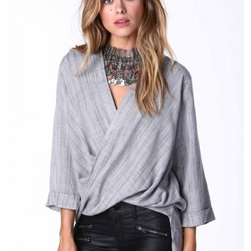 Sylvia Twist Front Blouse
