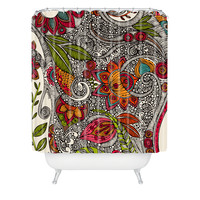 Valentina Ramos Random Flowers Shower Curtain
