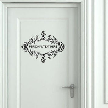 Wall Mural Vinyl Decal Sticker Sign Door Frame Personalized Text Name AL278