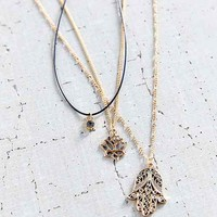 Power Of 3 Layering Necklace Set- Gold One