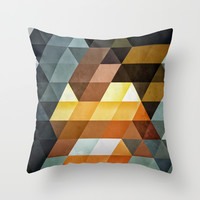 gyld^pyrymyd Throw Pillow by Spires