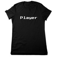 Video Game Shirt, Funny Shirt, Player, Funny T Shirt, Geek, 8bit Geeky T Shirt, 8 bit Video Game Tshirt, Funny Tee, Ladies Women Plus Size