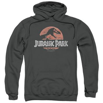 Jurassic Park - Faded Logo Adult Pull Over Hoodie Officially Licensed Apparel