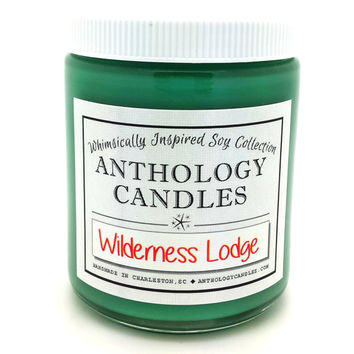 Wilderness Lodge Candle - Anthology Candles, Disney Candles, Scented Soy Candle, 8 oz Jar