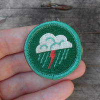 Lightning 'Weather' Scout-Style Merit Badge