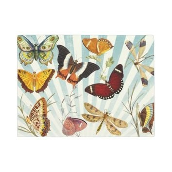 vintage butterfly collage doormat