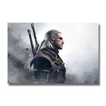 The Witcher 3 Wild Hunt Silk Posters Game Huge Prints Wall Art Painting 12x18 32x48 inch Decoration Pictures Living Room Decor