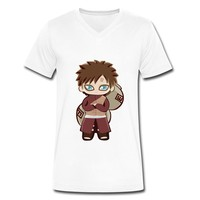 Discount Naruto I Love White V-neck T-shirt For Men Personalized-Art & design Clothing |HICustom