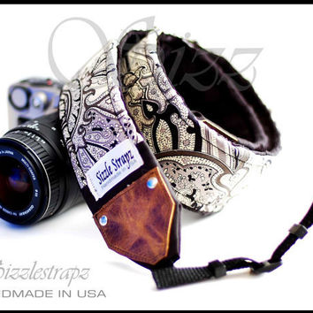 Beautiful Handcrafted Unisex Fashion Camera Strap by sizzlestrapz
