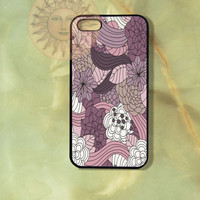 Purple Flowers  -iPhone 5, 5s, 5c, 4s, 4, Ipod touch4, 5, Samsung GS3, GS4 case-Silicone Rubber / Hard Plastic Case, Phone cover