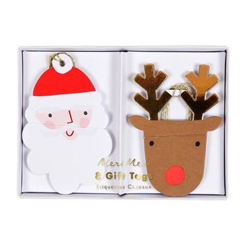 Santa and Reindeer Gift Tags