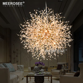 2017 New Crystal Suspension Lamp Round Modern Pendant Light Drop Lustre For Home Lighting Suspension Crystal Lamparas Luminaire
