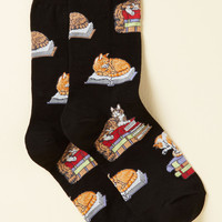 Kitten the Books Socks | Mod Retro Vintage Socks | ModCloth.com