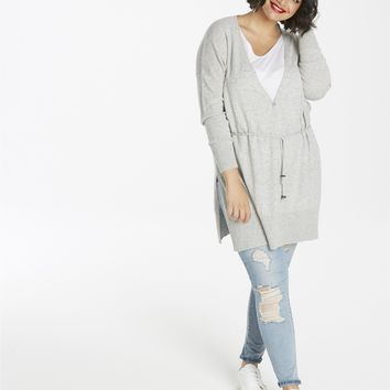 Wool-Mix Drawstring Cardigan | SimplyBe US Site