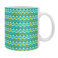 Allyson Johnson Teal And Yellow Aztec Coffee Mug