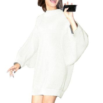 Winter Turtleneck knitted sweater women Autumn fashion Long Sleeve Casual Warm Knitting Pullover sexy oversized sweater
