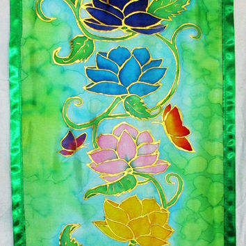 MADE TO ORDER Lotus Chakra wall hanging, lotus art, chakra art, reiki art, spiritual art, meditation art, energy art, metaphysical art