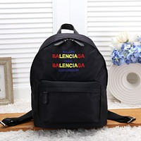 Balenciaga Canvas Backpack College High School Bag Travel Bag