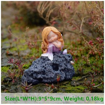 Everyday Collection Miniature Fairy Garden and Terrarium Sweet Little Mermaid Statue