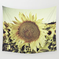 """""""Sunflowers II"""" Vintage dreams Wall Tapestry by Guido Montañés"""