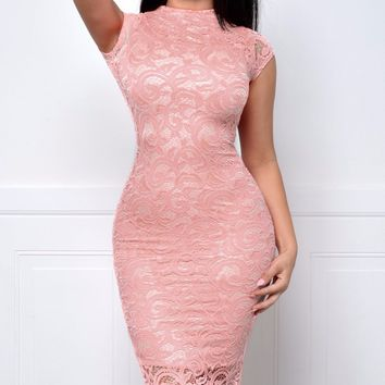 RESTOCK Take Me Anywhere Dusty Pink Dress