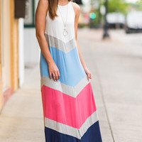 Block Party Fun Maxi Dress, Off White