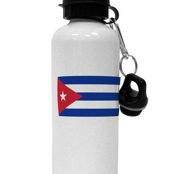 Cuba Flag Cubana Aluminum 600ml Water Bottle by TooLoud