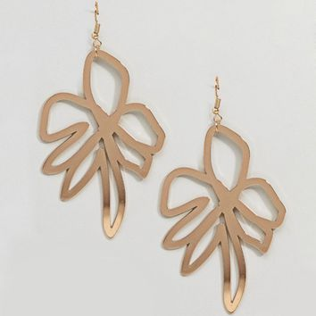 ASOS DESIGN Abstract Flower Earrings at asos.com