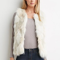 Faux Fur Open-Front Vest