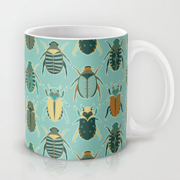 Scarab Beetles Mug by Cute To Boot