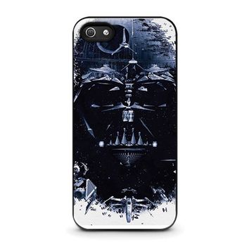 darth vader star wars iphone 5 5s se case cover  number 1