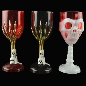 Halloween Cup Led Colorful Ghost Claws Skull Face Champagne Shot Cup Drinking Ware Home Bar Horror Decor For Halloween Party #3