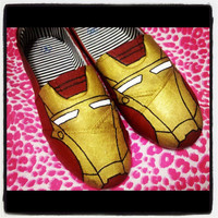 Custom Handpainted Iron Man 3 Slip on shoes (Any size)