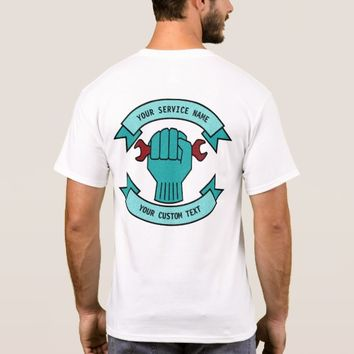 Repair Mechanic Technician Plumber With Red Wrench T-Shirt