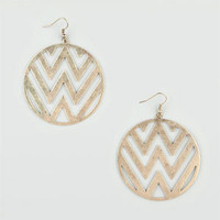FULL TILT Round Zig Zag Cutout Earrings 205633621 | Earrings | Tillys.com