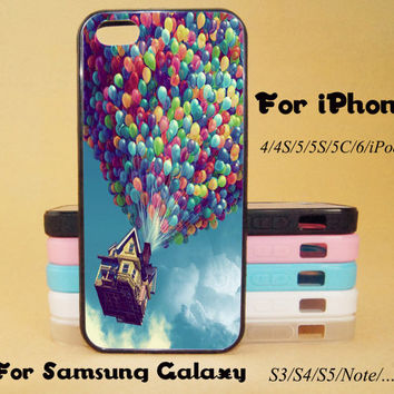 Baloons,Pixar, UP,iphone 5 case,iPhone 5C Case,iPhone 5S Case,iPhone 4 Case, iPhone 4S Case,Galaxy Samsung S3, S4,S5