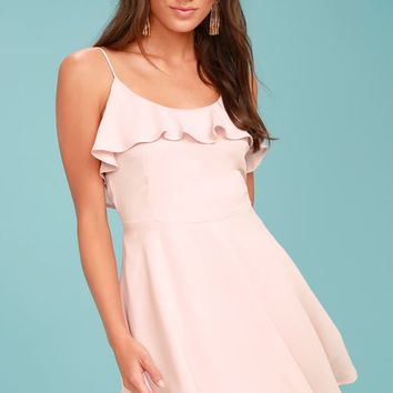 Lucy Love Celebration Blush Pink Skater Dress