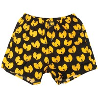 Wu Tang Clan Men's  Allover Classic Logo Shorts Boxers Black