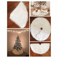 Non-woven Embroidered Christmas Tree Skirt