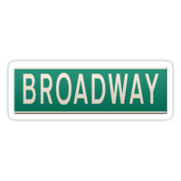New York street sign - Broadway. by stuwdamdorp