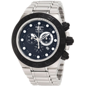 Invicta 1527 Men's Subaqua Sport Black Bezel Black Dial Stainless Steel Chronograph Watch