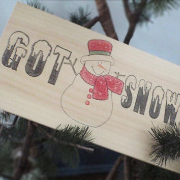 Wood snowman sign-Christmas sign-Christmas wall decor-Christmas decoration-Snowman wall decor-Primitive snowman-CIJ-FREE SHIPPING