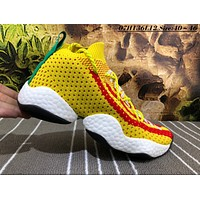 auguu Adidas Crazy Boost BYW Breathable Causal Baketball Shoes Yellow