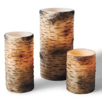 Faux Birch Battery-operated Candle