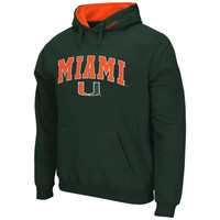 Miami Hurricanes Arch Logo Pullover Hoodie - Green